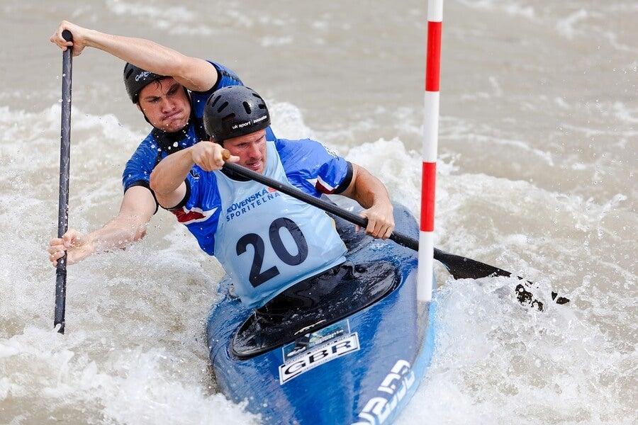 Participantes en las pruebas de piragüismo en los Juegos Olímpicos