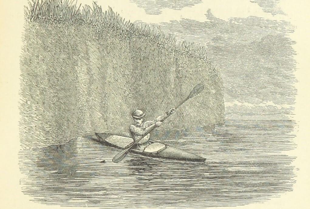 Mac Gregor en su canoa, parte de la historia del piragüismo