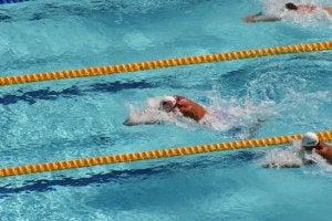 Prueba de natación en Atenas 2004