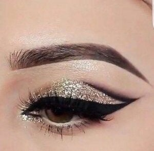 Smudgy eyes con glitter